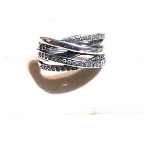 Pandora entwined SS ring